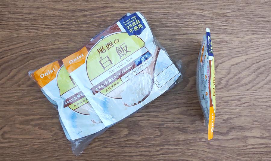 尾西の白飯のパッケージ